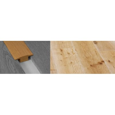 White Wash Solid Oak T-Bar Profile Hardwood 15mm Rebate 2.7m